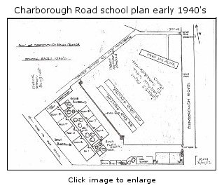 School plan for 1940s drawn from memory by a former pupil
