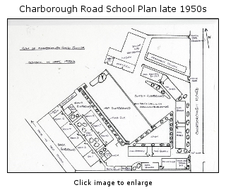 School plan for late 1950s drawn from memory by a former pupil